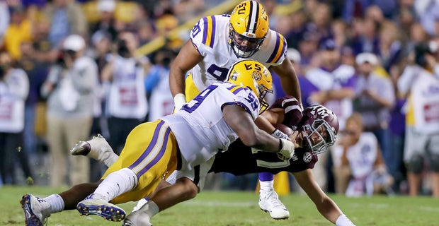 LSU's projected starters and 2017 Pro Football Focus grades