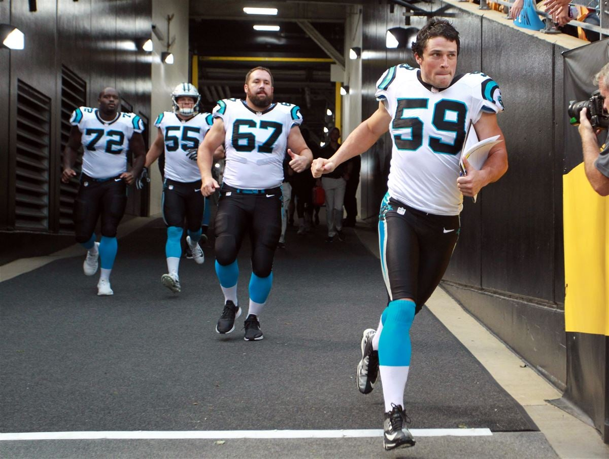 more photos 9049b c3a24 Panthers to wear white jerseys, black pants against Redskins