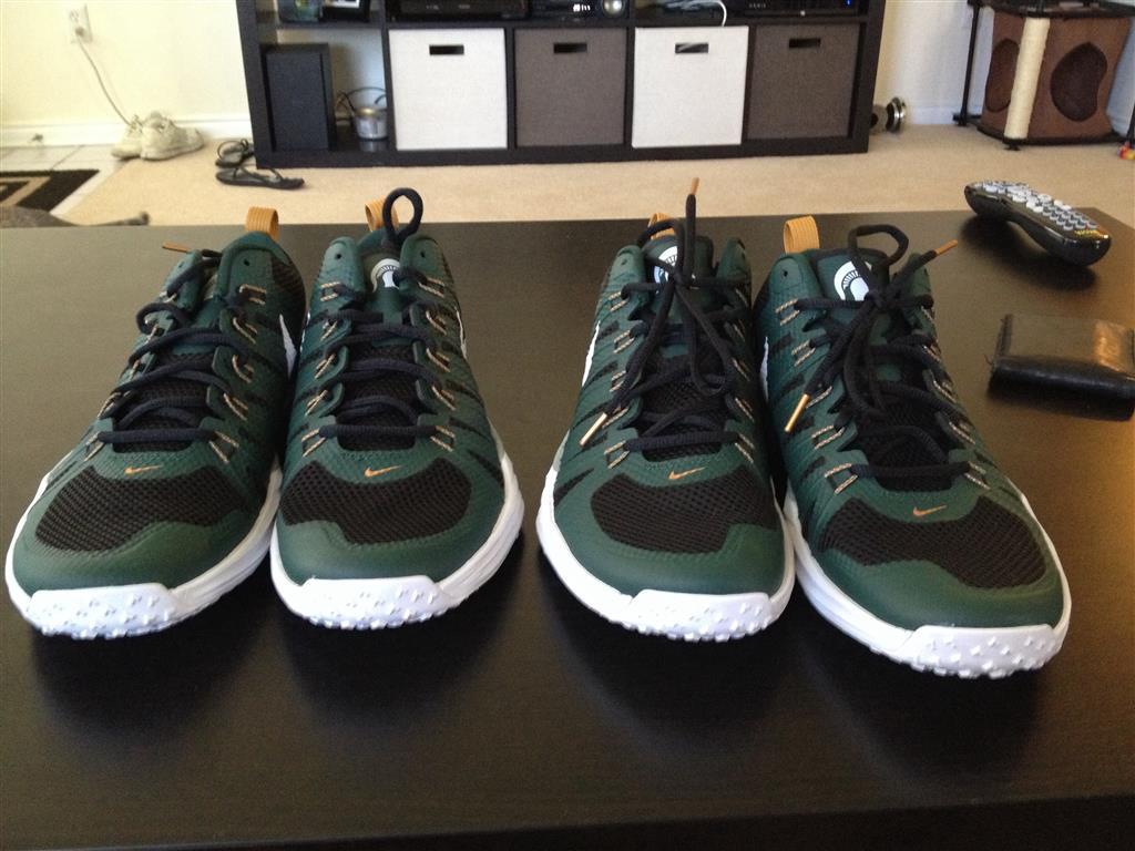 best service 05866 e26d6 ... discount code for michigan state spartans nike lunar tr1 shoe pro green  white black bronze msu