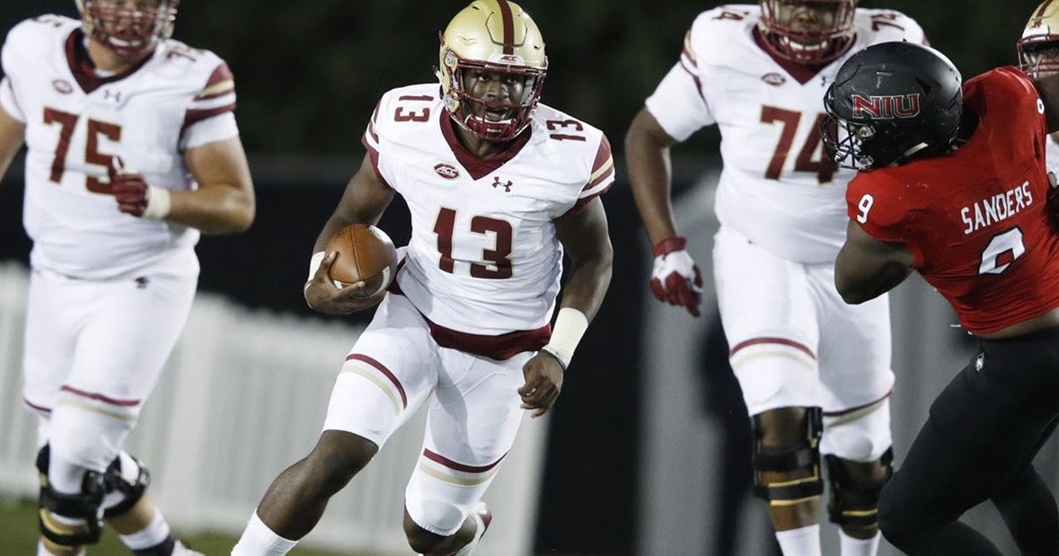 Boston College QB Anthony Brown out for season due to leg injury