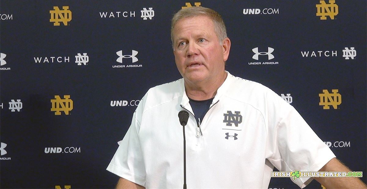 Watch: Brian Kelly sees progress in Brandon Wimbush and Ian Book