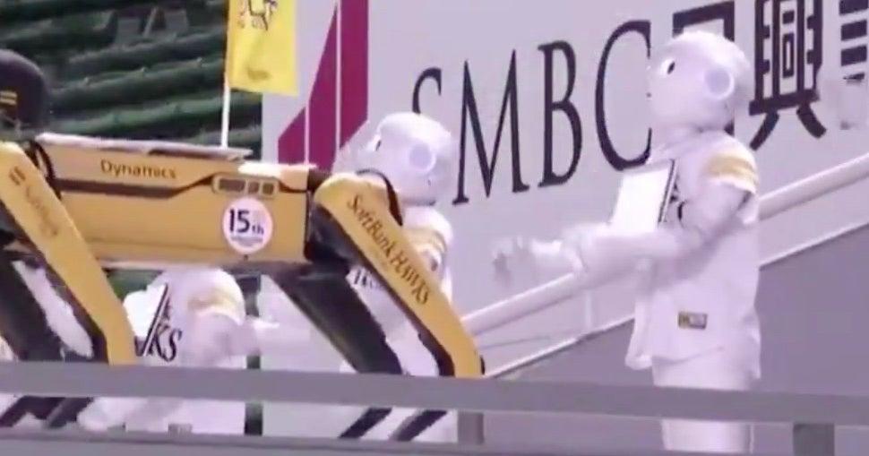 WATCH: Japanese baseball team uses robot fans