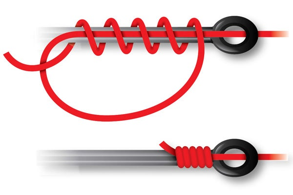 How to tie the uni snell knot for How to tie a hook on a fishing line