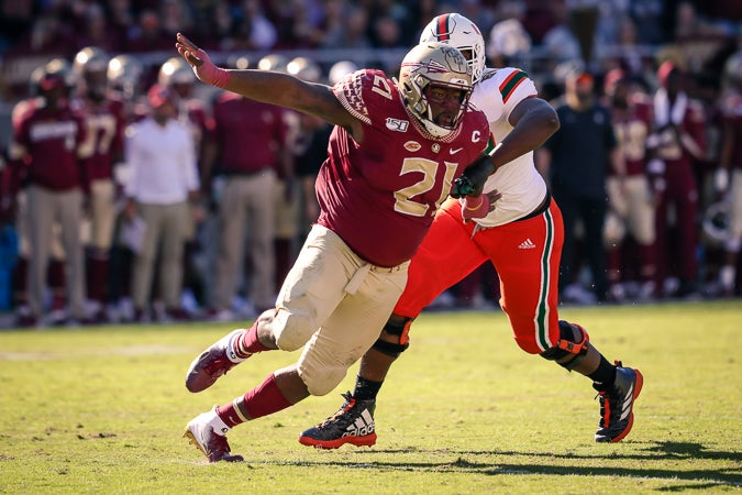FSU DT Marvin Wilson goes in first round of mock draft