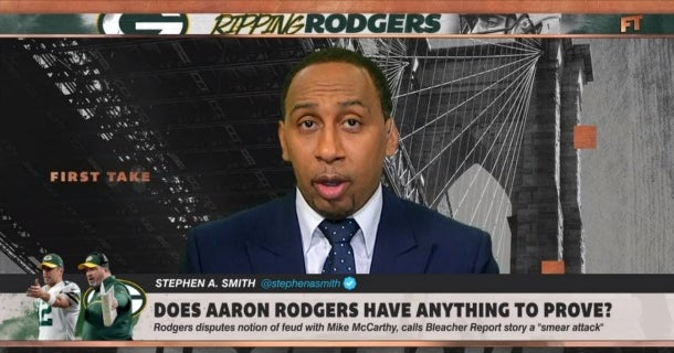 Stephen A  Smith: 'Aaron Rodgers is a victim' in B/R article