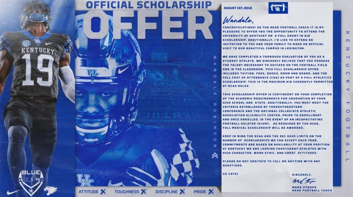 Kentucky football targets receive official scholarship offers