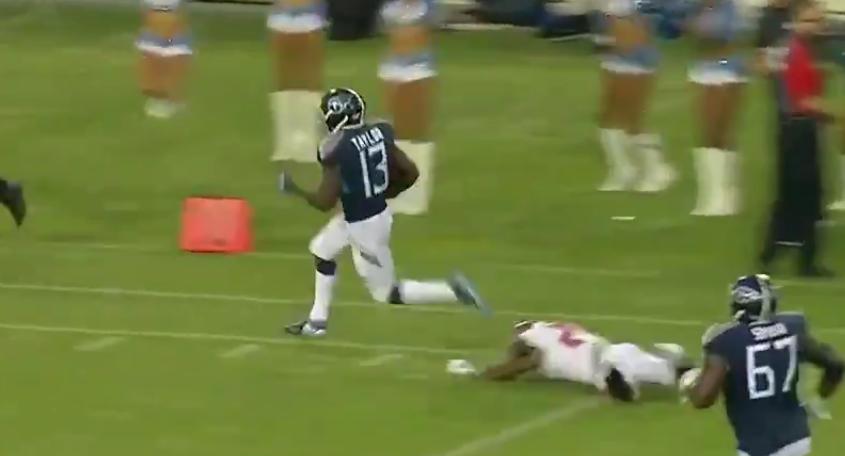 Taywan Taylor outruns Bucs defense for Titans touchdown