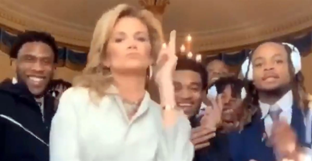 LSU's White House dance party is going viral