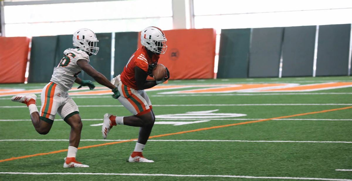PHOTOS: Miami Practices Inside Indoor Practice Facility