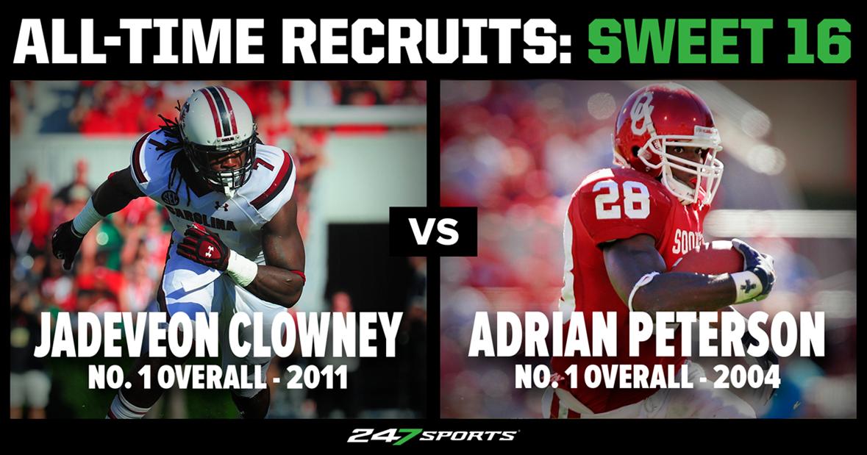 Adrian Peterson vs Jadeveon Clowney: Who was the better recruit?