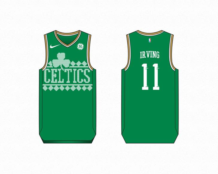 official photos 59174 d3ab1 Kyrie Irving Christmas jersey