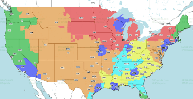 Coverage Map released for Panthers vs. Bengals