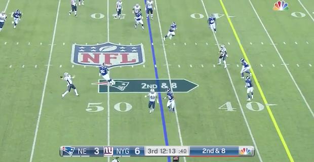 86857c868 Danny Etling s 45-yard throw sets up Patriots touchdown