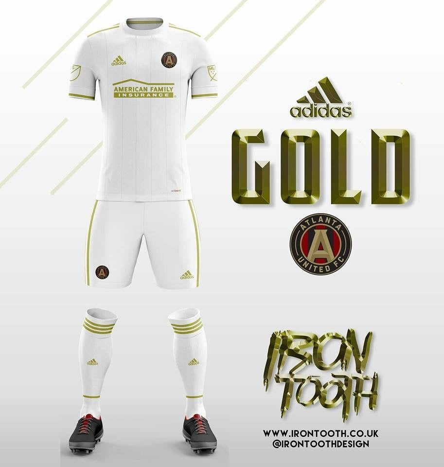 newest collection 3ee9c c6dc5 Atlanta United replacing secondary grey units with gold.