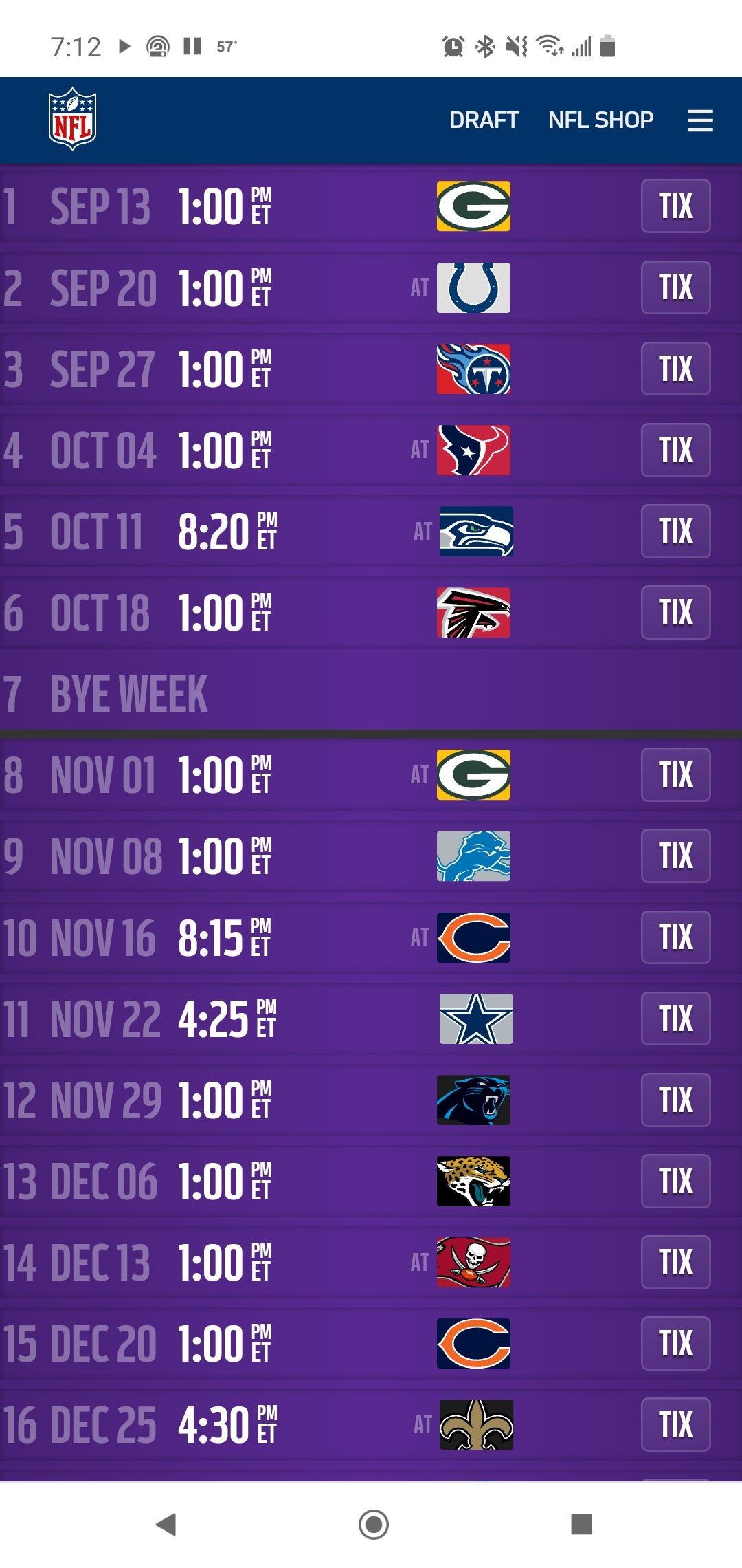 2020 Nfl Schedule Is Out