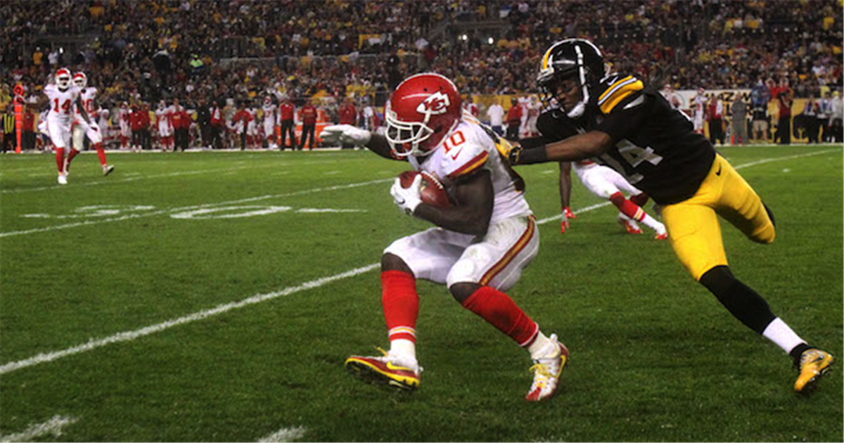 Justin Gilbert, Tyreek Hill, Steelers vs Chiefs, Steelers cut Justin Gilbert