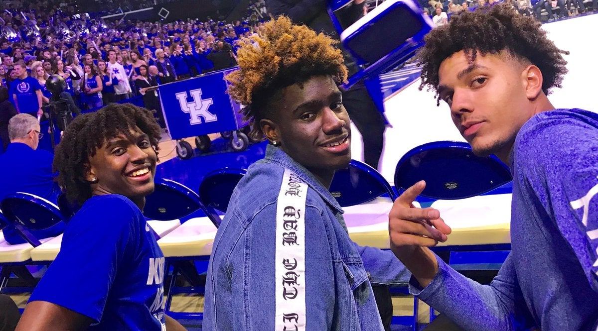 Tyrese Maxey Enjoys Electrifying Visit To Big Blue Madness