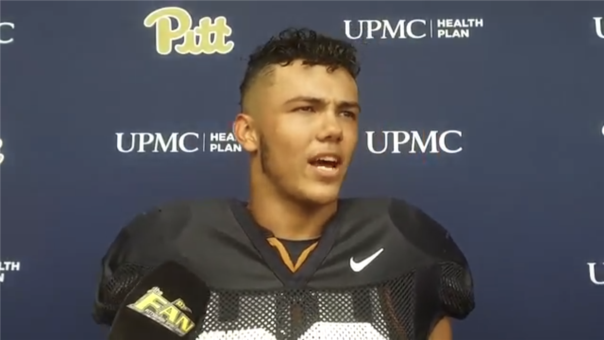 Pitt Football Camp-Day 10 Interview With DE Chase Pine