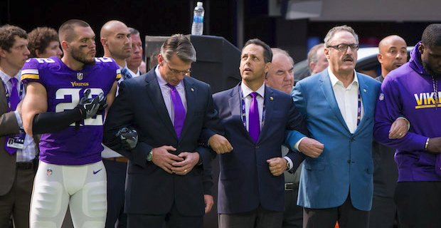 mark wilf addresses how vikings will handle national anthem