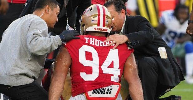 San Francisco 49ers injuries don't appear long term so far