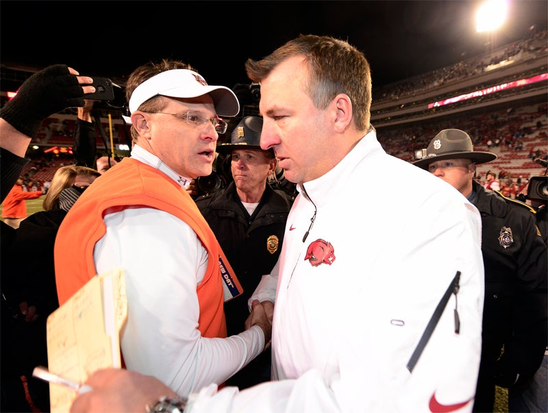 Bielema when asked if he was joking about hurry-up offenses like Auburn's leading to injuries