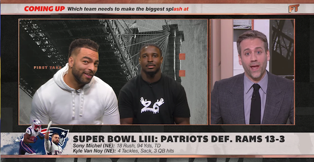 Kyle Van Noy trolls Max Kellerman while appearing on First Take