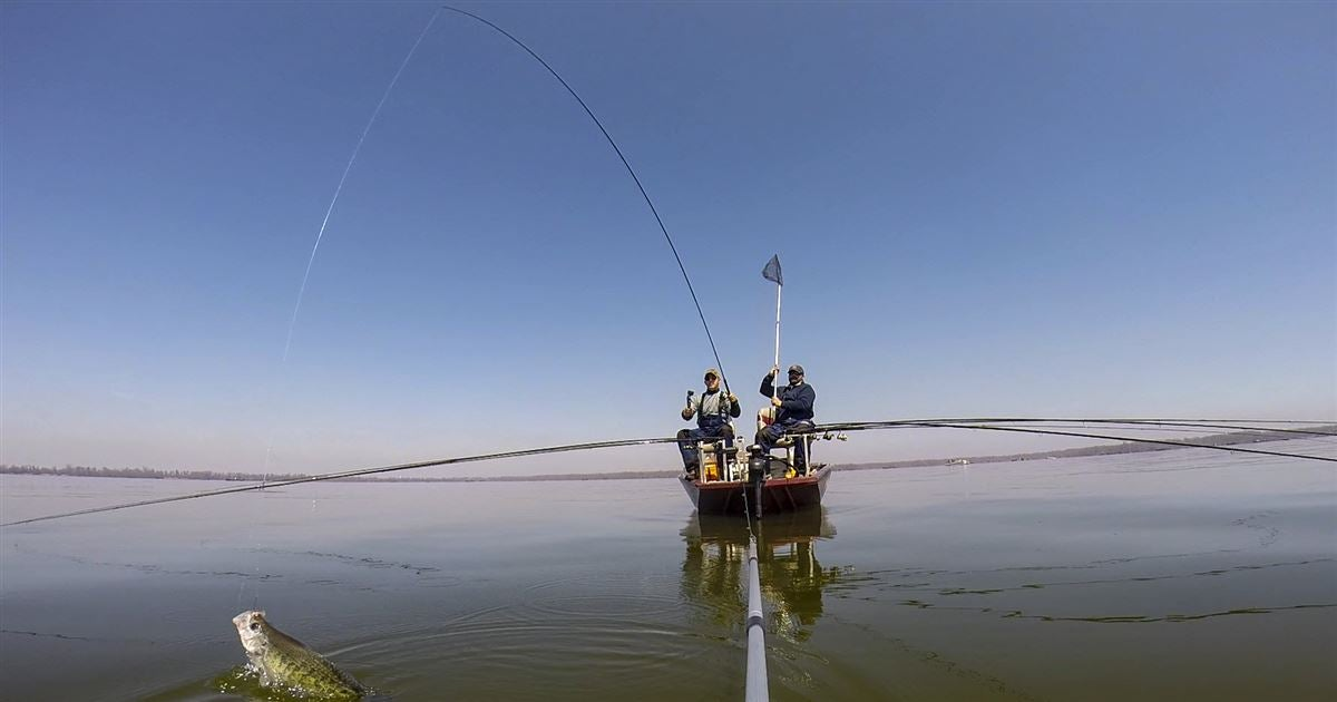 Gearing up for spider rigging crappie for Spider rigs for crappie fishing