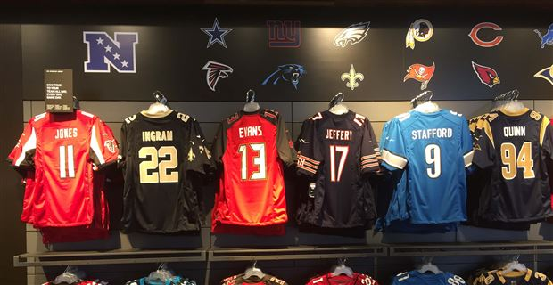 The Top-Selling jersey for each NFL team during the 2017 season