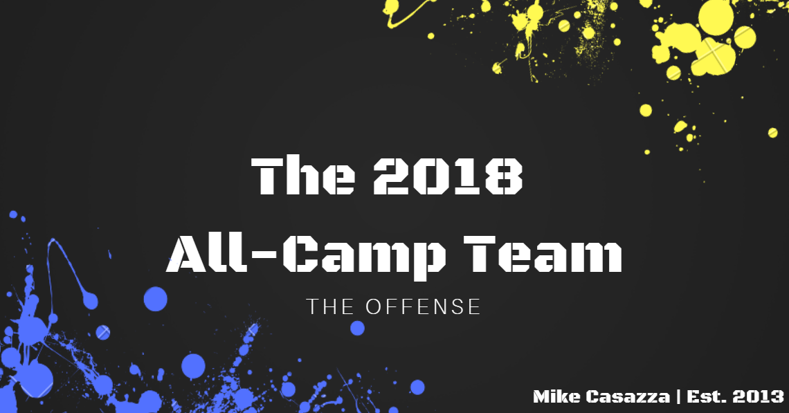 The 2018 All-Camp Team: Offense