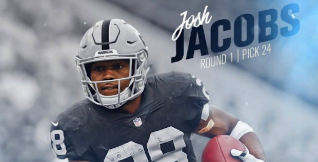 Oakland Raiders Josh Jacobs Receives Jersey Number