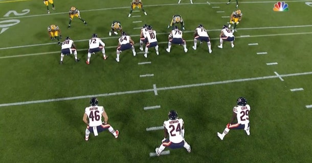 Bears Paid Tribute To Team History With T Formation Vs