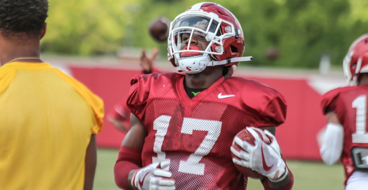 Freshman Foucha emerging as ball hawk for Arkansas in fall camp