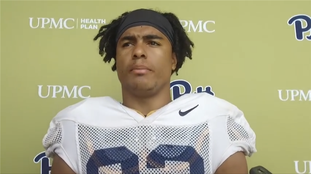 Pitt Football Camp-Day 10 Interview with WR Rafael Araujo-Lopes