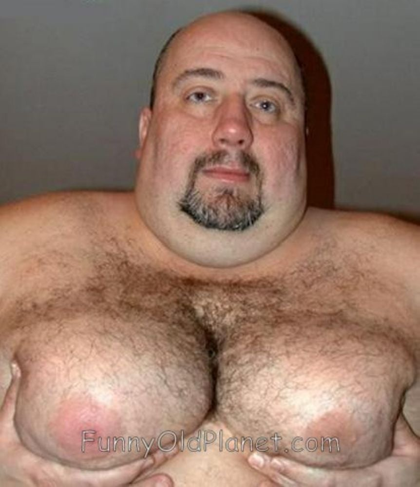 man with huge breasts