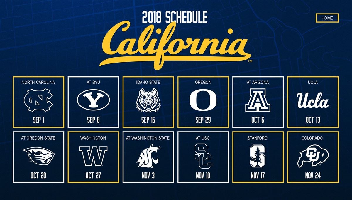 Cal Releases 2018 Football Schedule