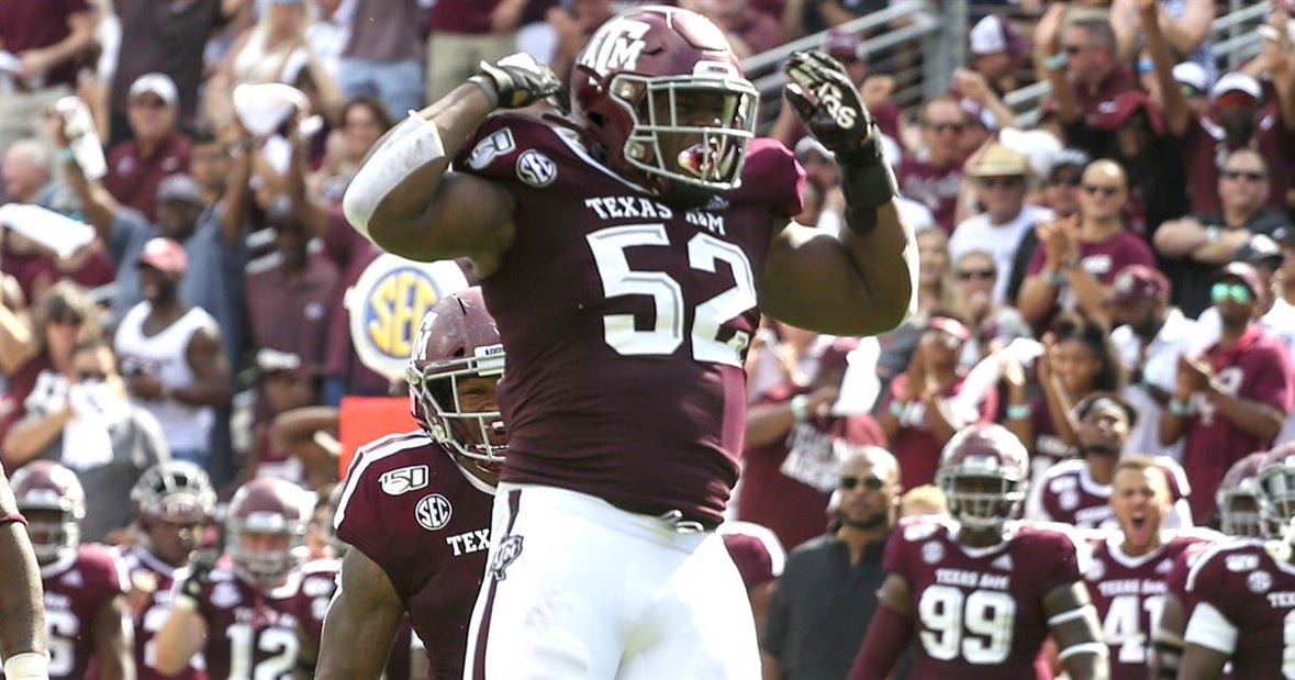 A&M's Madubuike, Blades make PFF's weekly all SEC teams