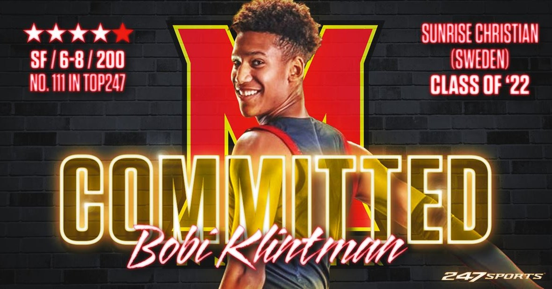 Maryland lands four-star forward Bobi Klintman