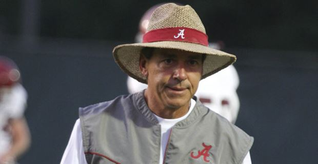 alabama coach nick saban discusses performance in first scrimmage of