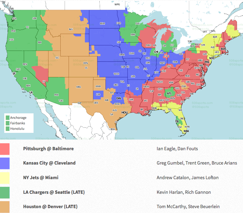 Coverage map released for Broncos-Texans Week 9 game