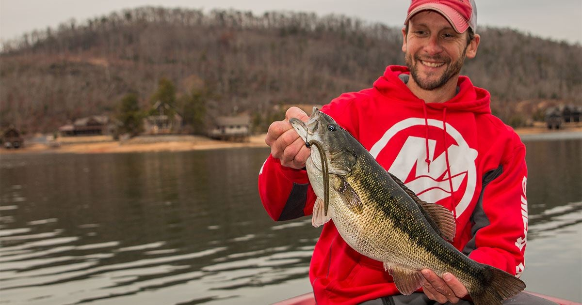 4 lure system to catch more winter bass for Bass fishing in winter