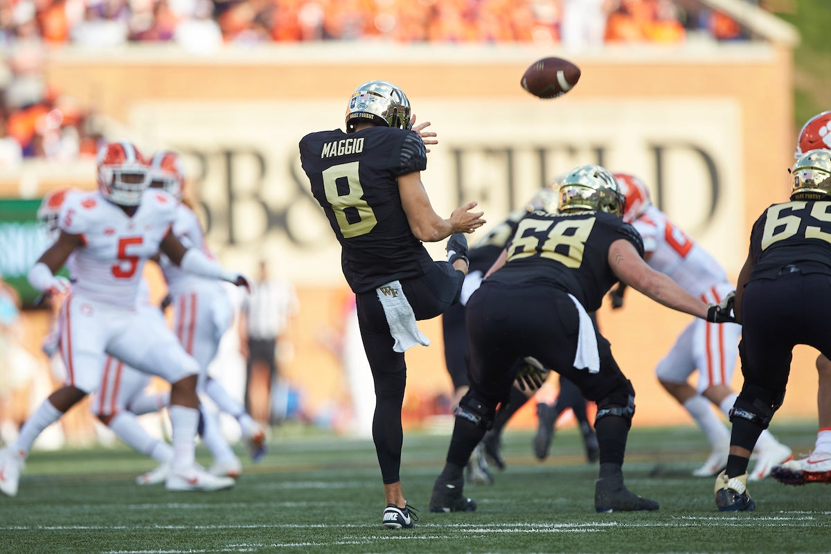 Wake Forest punter Dom Maggio breaks down kicking game