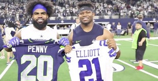 6116eeb7169 Several Cowboys, Seahawks swap jerseys after playoff game