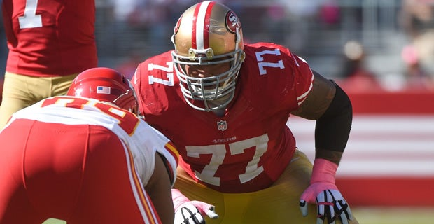 former 49ers guard mike iupati could face his old team sunday