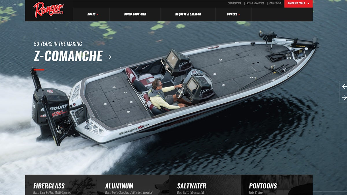 Ranger Boats Introduces All-New Website