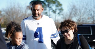c26b3b102a2 Grant Hill attends playoff game in Dallas Cowboys jersey