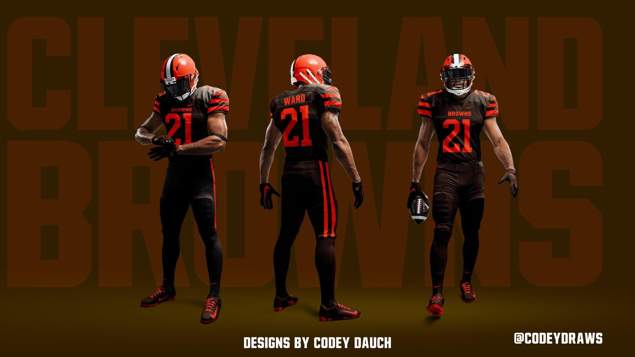orange browns jersey