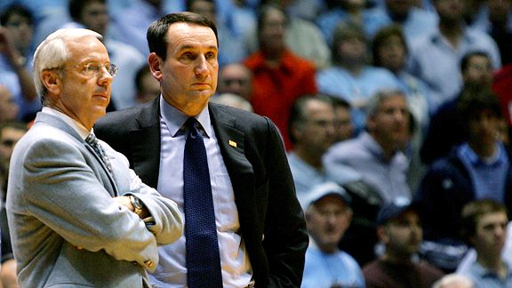 Image result for coach k roy williams