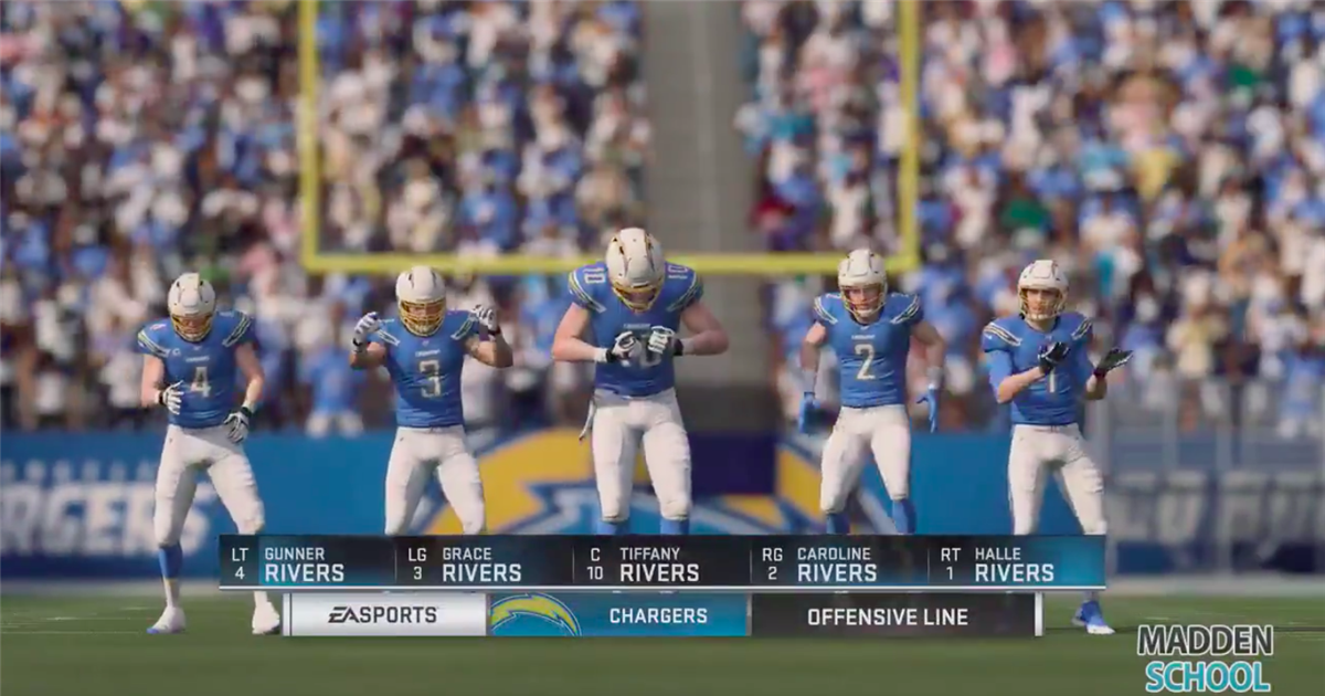 Madden School Creates Entire Offense With Philip Rivers Family