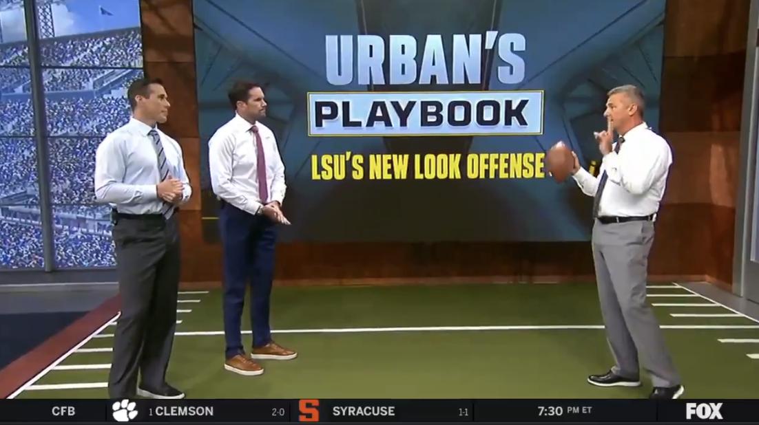 WATCH: Urban Meyer breaks down LSU's passing game