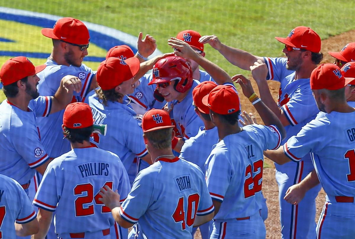 finest selection dc7a6 a787f Powder-Blue Power: Ole Miss Stays Alive in 3-2 Win Over Arkansas